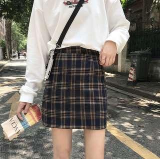 🚚 Instock Checkered Skirt