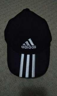 Adidas three striped black cap