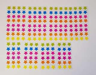 🚚 🌟200 PCS (10 sheets)🌟🔴$1 per piece➡️ MY FOLLOWERS/ Non Followers buy $1.90🔴 Colourful Star stickers