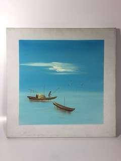 Ocean Scenery Oil Painting at $10