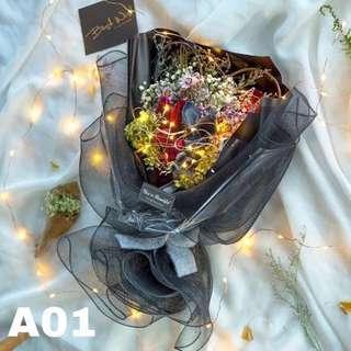 Valentine's preserved flower bouquet