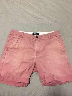 All Saints Pink Shorts Size W33