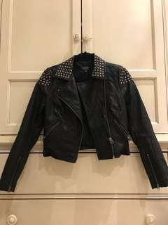 Topshop Studded Leather Jacket