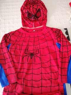 Spider man suit 4-5years old