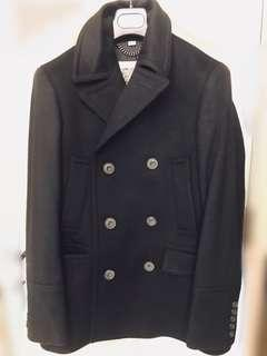 BURBERRY PRORSUM Mens Wool Peacoat