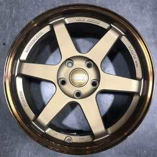 "17"" two tone bronze 5x114.3 rims"