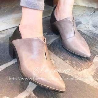 拼色軟身羊仔皮Ankle Boot