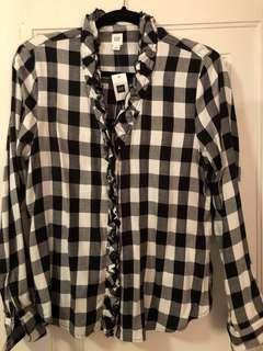 Black and white flannel New Gap shirt