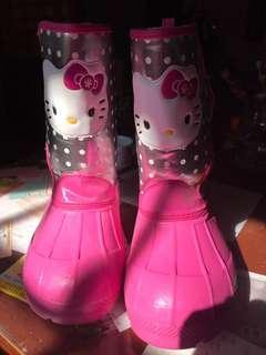 🚚 國外買的雪靴~~Hello kitty,粉紅