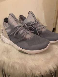 Blue Rebok sneakers