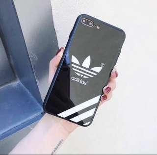 Iphone 7/8 tempered glass adidas case