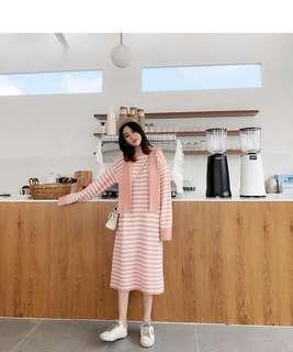 🚚 粉粉嫩嫩毛衣裙,只穿過一次,9成新!