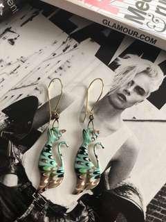 Cheetah dangling earrings