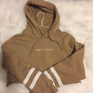 TORONTO PEACE COLLECTIVE CROP HOODIE