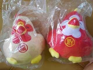 Fu chicken plushies