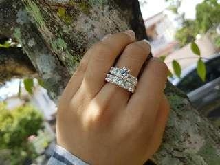Silver ring pair, cincin risik & tunang