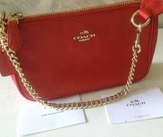 Coach Wristlet With Chain Strap