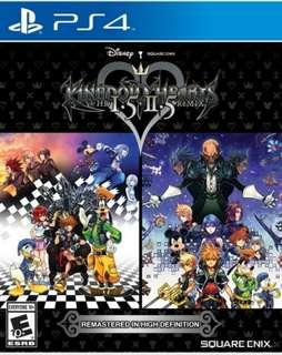 🚚 PS4 kingdom hearts 1.5 + 2.5 remix HD remastered