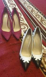 Set of 2 Wittner pointed block heels