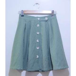 Button Down Flare Flowy Skater Skirt (UNUSED)