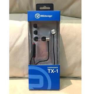 [全新包郵] REZ Design Ear Phone TX1 入耳式耳機
