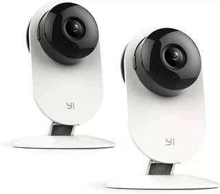 🚚 YI Home Camera, Security Camera Wireless IP Surveillance Camera with Night Vision Activity Detection Alert Baby Monitor, Remote Monitor with iOS, Android App - Cloud Service Available (2 Pack)