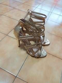 Gold Aldo Heels 37