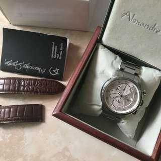 JAM ALEXANDRE CHRISTIE MEN AC 6208 SILVER ORIGINAL 💯 %