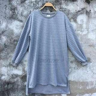 Runa Stripes Top Light Grey #rhd80