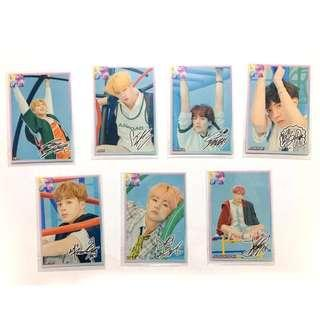 1 SET Superstar BTS Photocard (R card & signed)