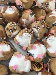 Disney BOLT Hamster Rhino Plush Key Chain