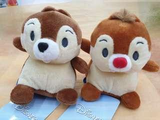 Disney Parks Chip and Dale Plush Doll Set of 2