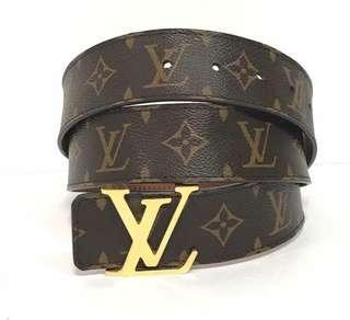 ♦️Louis Vuitton Monogram Unisex Belt Gold Hardware size 38 inch/95cm
