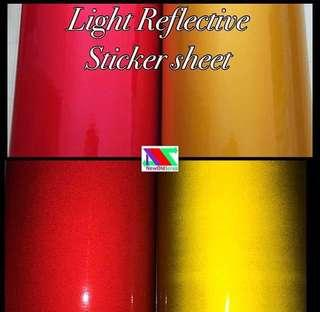 Reflective safety sticker