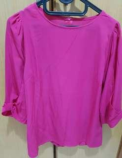 Preloved - Fuschia Bow Tops