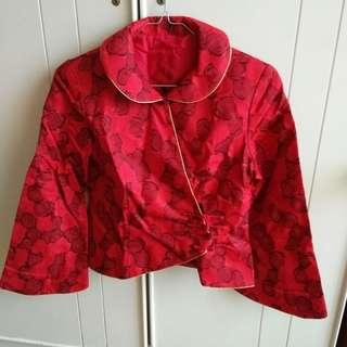 Rose Embroidery Oriental Blouse