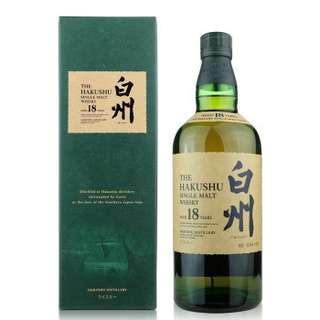 Suntory-Hakushu 18Y WHISKY 三得利-白州 18年威士忌