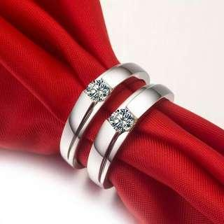 925 Silver Couple Ring Code : 19021