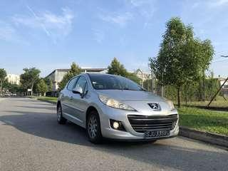 Grab Car Rental Cheapest PEUGEOT 207 Available