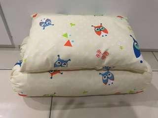 Owl washable baby pillow & bolster