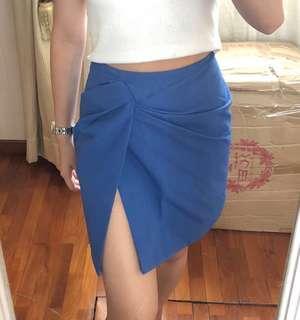 Love Bonito Blue Slit Skirt