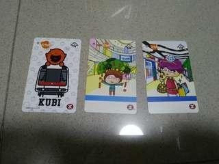 MTR 紀念票 東鐵線 港島線 kubi 共三張