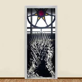 """THE GAME OF THRONES """"THE IRON THRONE"""" RESIDENTIAL DOOR ART"""