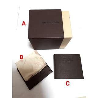 🚚 LV Watch Box /Manual /Polishing Cloth