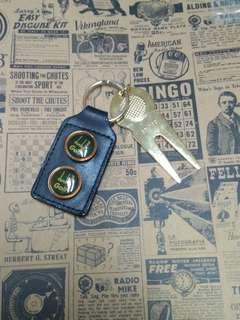 Dunhill golf金屬扣。支有少殘。新舊請看圖。謝絕完美主義者。