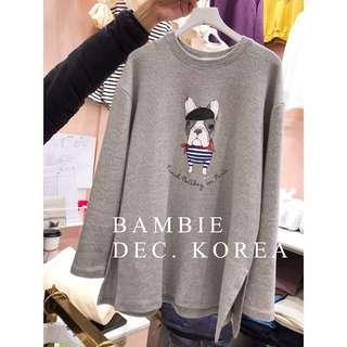 🚚 轉賣BamBie斑比小店🌹本汪今天出門有打扮棉T--粉