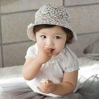 Baby floral sun hat