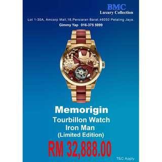 MEMORIGN TOURBILLON IRON MAN WATCHS LIMITED EDITION
