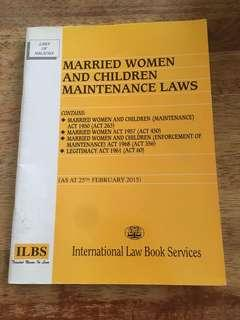 Married Women and Children Maintenance Laws