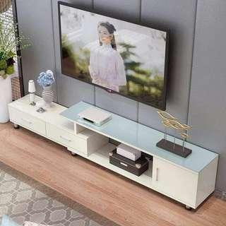 Modern Glass To Adjustable Tv Rack